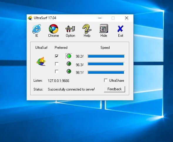 تحميل آخر اصدار من أداة كسر  البروكسي الترا سيرف 17.04 ultra-surf