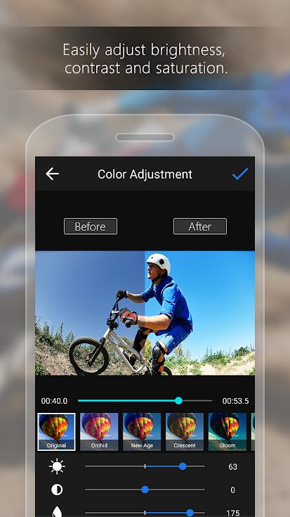 تطبيق ActionDirector لمونتاج وتعديل مقاطع الفيديو عبر الموبايل