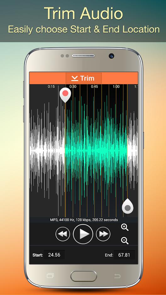 تطبيق جوال لتعديل ملفات الصوت Audio MP3 Cutter Mix Converter and Ringtone Maker