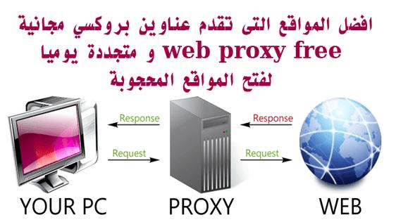 عناوين بروكسي مجانية WEB PROXY FREE و متجددة يوميا لفتح المواقع المحجوبة 2017